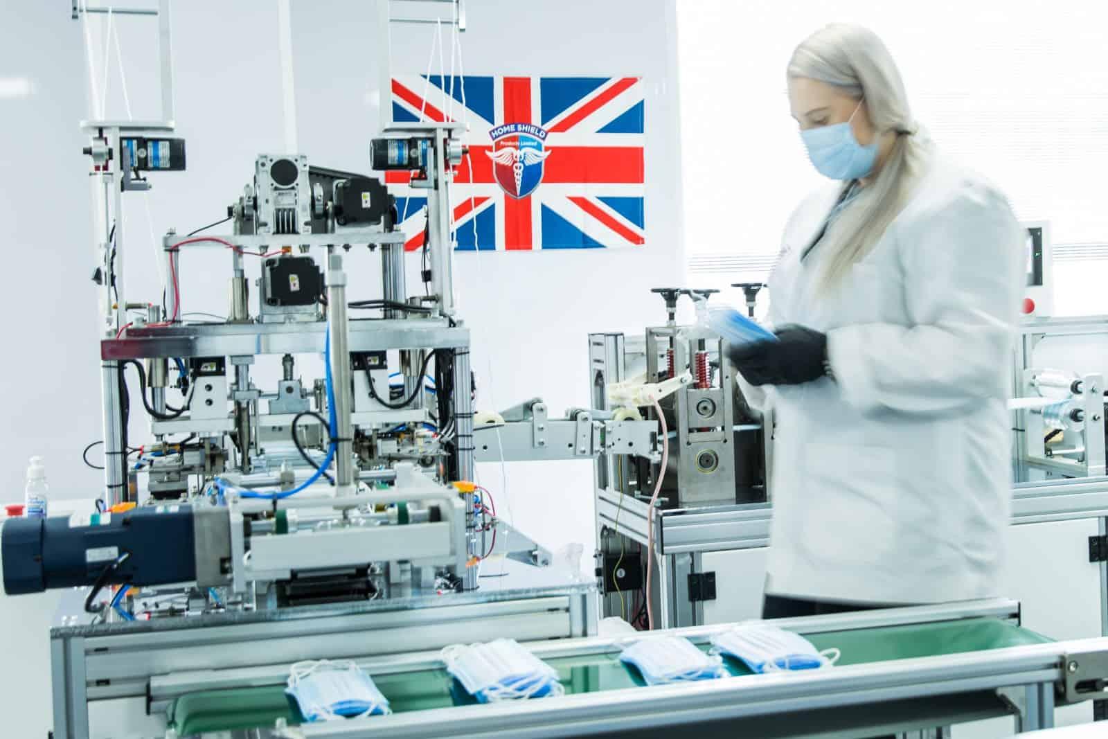UK manufactured face masks home shield products ltd